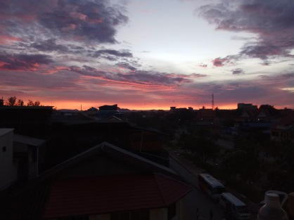 Sunrise from balcony at Captain Chims
