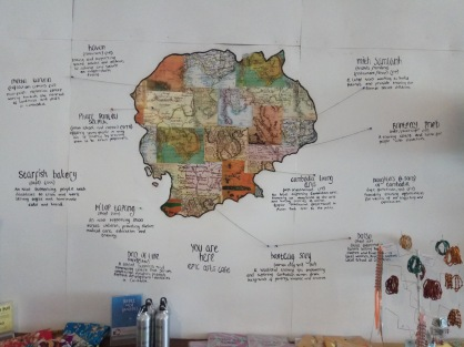 Epic Arts Cafe map of Cambodian charities