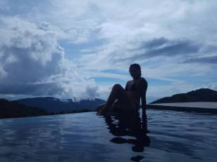 Infinity pool at view point