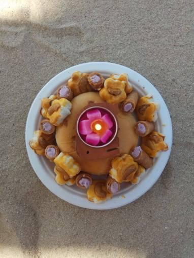 Island style birthday cake